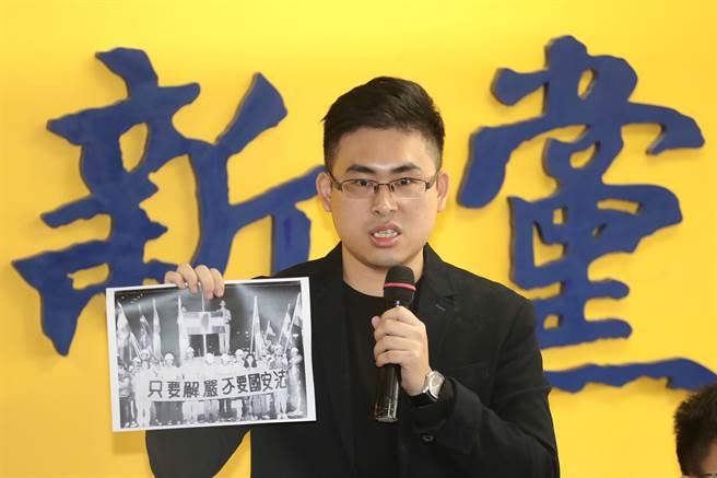 新黨青年軍王炳忠。(圖/中央社)