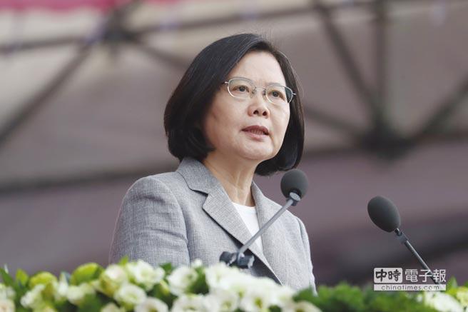 總統國慶演說 總統蔡英文昨(10)日在國慶演說中提出,為因應美中貿易衝突和全球經貿秩序重建的巨大變局,台灣必須調整在區域發展及全球供應鏈的角色。圖/中央社