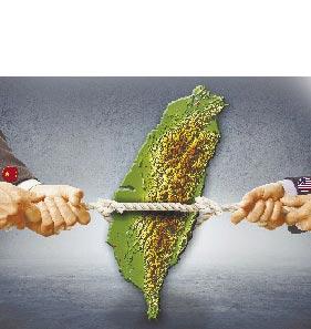 美國遏中「犧牲兩岸關係」。(設計畫面)