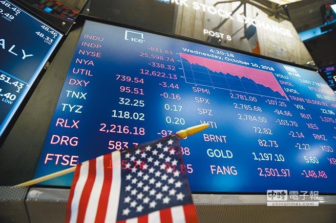 10月10日,紐約股市三大股指大幅下跌,道瓊工業指數比前一交易日下跌831.83點,收25598.74點,跌幅3.15%。(新華社)