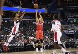 NBA》連2年遭遇巫師 陳盈駿三分球彈無虛發