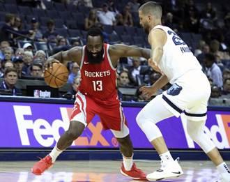 NBA》主力終於到齊!火箭20顆三分球轟翻灰熊