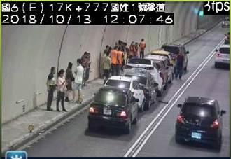 獨家》國6國姓一號隧道8車連環撞 回堵3公里