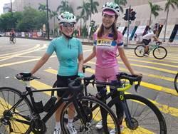 香港單車節》封街飆騎 「單車甜心」夏美、藝人「151」喊過癮