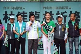 林祈烽獲林佳龍、蔡其昌站台相挺 兒子「小飯糰」最萌助選員