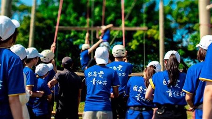 全球人壽將高階主管課程導入實習生計劃,夏天推出「Young Talent核心價值共識營」,幫助實習生透過交流找到職場歸屬感。(全球人壽提供)