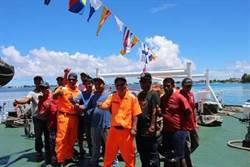海巡署巡護七號開抵馬紹爾 雙方共辦聯合海上勤務