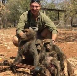動物保育官想露一手給老婆看 無情射殺14隻動物「狒狒遭滅門」