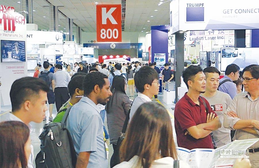 台灣國際雷射展登場,雷射產業相關技術與應用盡在展場完整呈現;圖為去年會場參觀盛況。圖/展昭提供