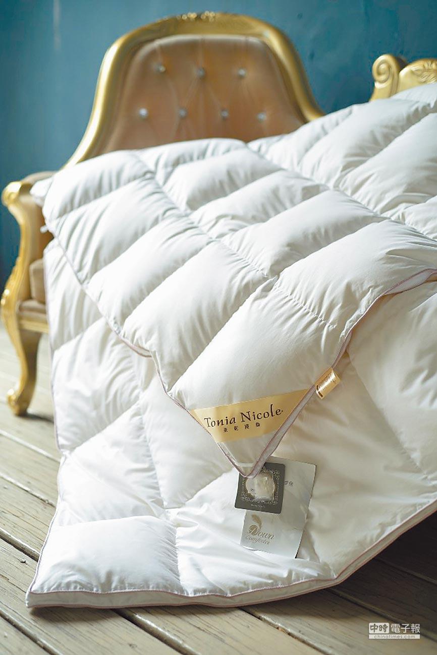 比漾廣場東妮Tonia Nicole波蘭御藏60D羽絨冬被,原價1萬7960元、特價8980元。(比漾廣場提供)