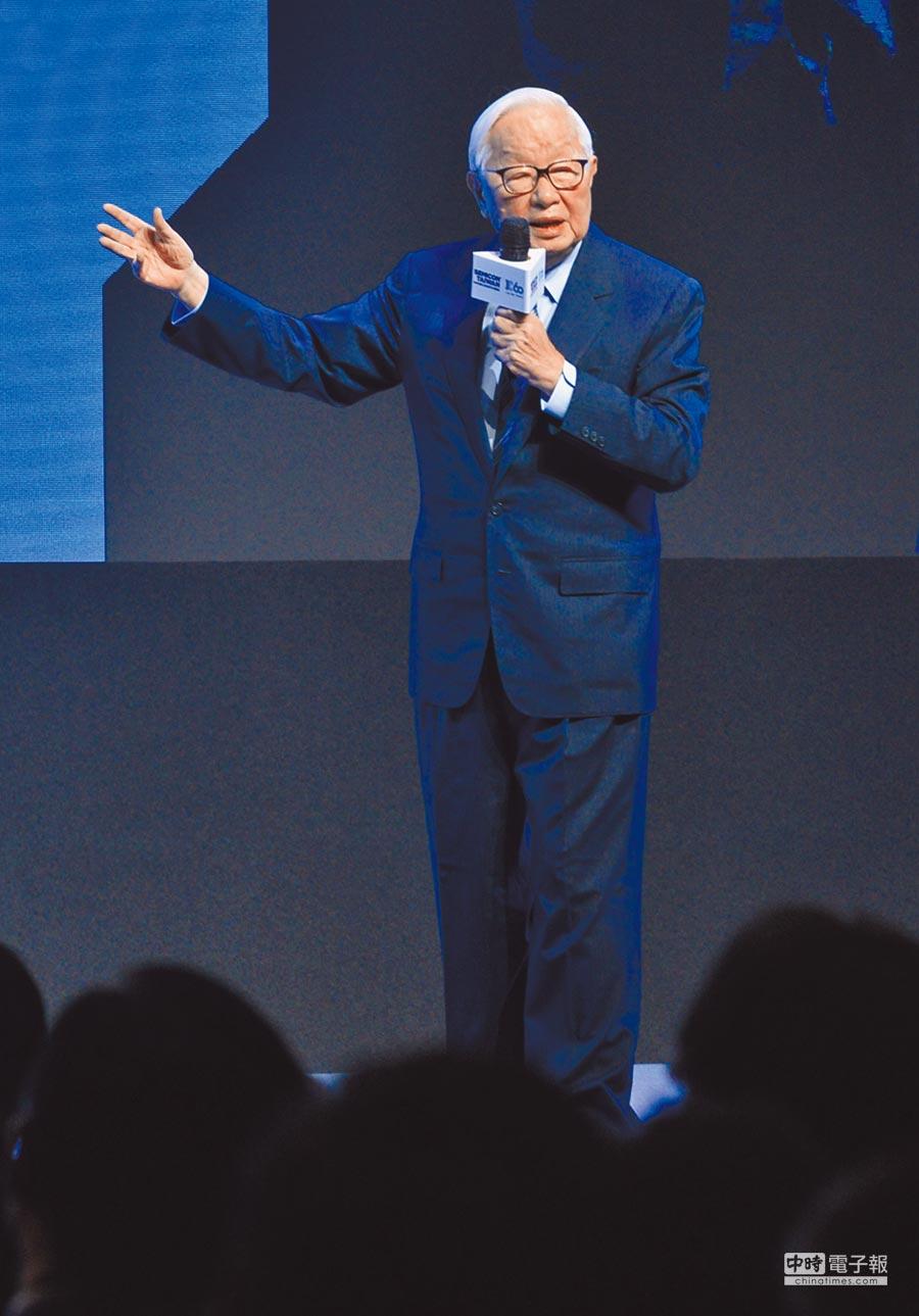 台積電在南京設有12吋晶圓廠,圖為9月5日,台積電創辦人張忠謀受邀出席IC60大師論壇發表專題演說。(本報系記者顏謙隆攝)