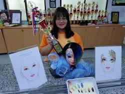 想當新娘秘書 高中生游凰雅參加造型比賽奪3獎