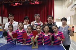全國總統盃桌球賽 高雄中山國小雙料冠軍