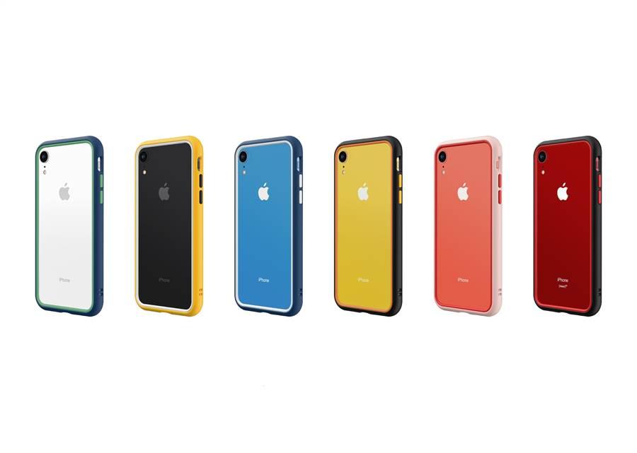 為了機身顏色多達六種的iPhone XR,犀牛頓也推出了多彩保護周邊來讓消費者任意搭配。(圖/犀牛盾提供)