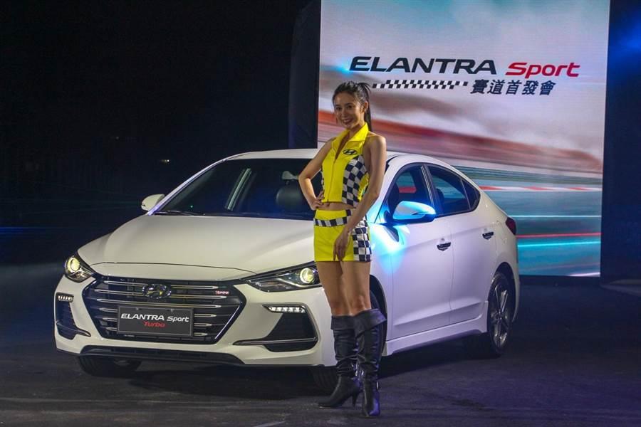 HYUNDAI ELANTRA SPORT雙車型售價為入門版的79.9萬與極速版的87.9萬。(圖/中時電子報拍攝)