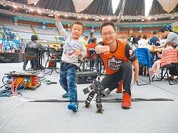 自製格鬥機器人 6歲童好威