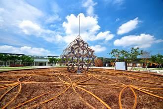 全國首座免電也會亮裝置藝術 花博外埔園區吸睛亮點