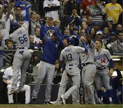 MLB》道奇擊敗釀酒人 連兩年闖世界大賽