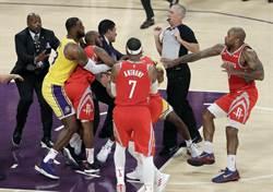 NBA》詹皇主場首秀變調 保羅跟隆多大打出手遭驅逐