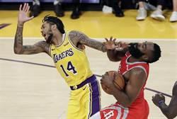 NBA》湖人與火箭鬥毆 英格拉姆禁賽4場 隆多3場 保羅2場