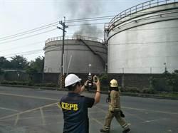 林園先進材料科技油槽起火燃燒 遭罰500萬元勒令停工