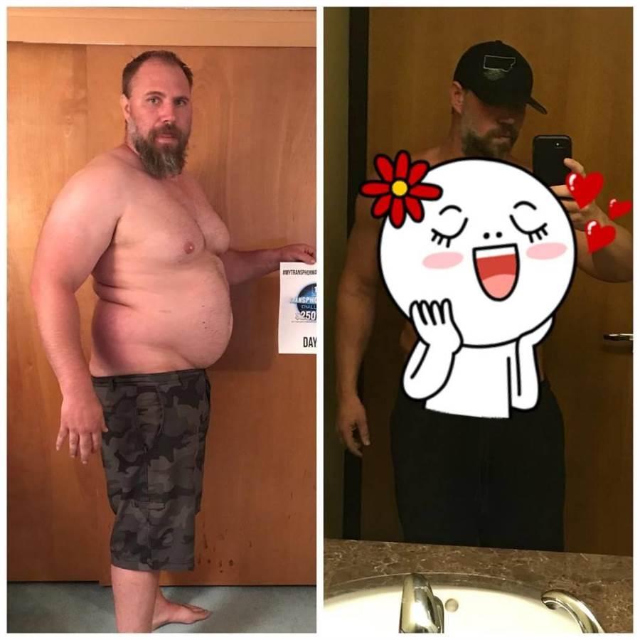 超勵志!胖老爸為了孩子 5個月狂甩41公斤(圖/翻攝自IG/jeremiahpetersonmontana)