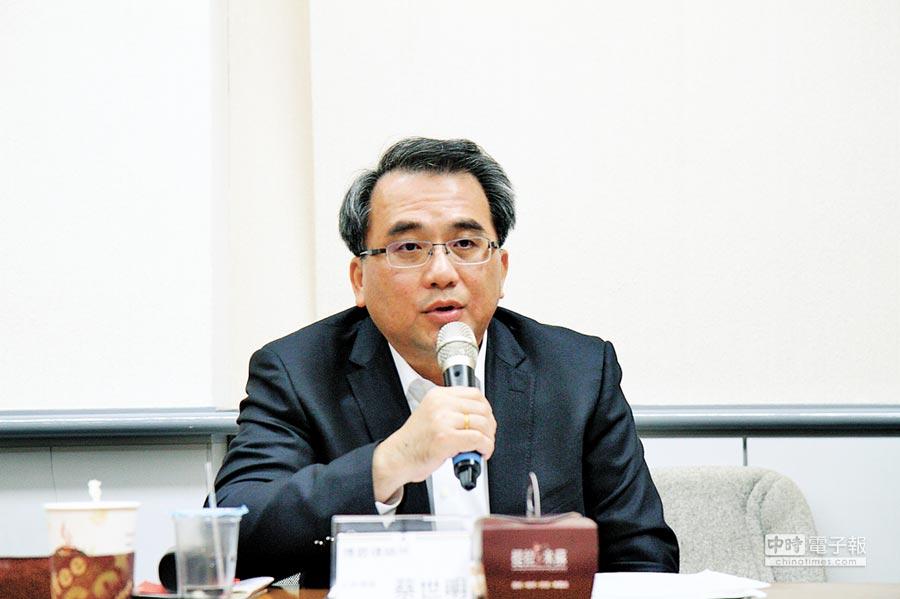 上海台協副會長蔡世明。(本報資料照片)