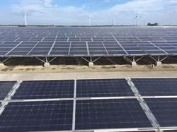 衝綠電! 台電彰濱太陽光電場今中午發出第一度電