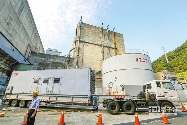 圖為國營事業台電所屬的核一廠2號機組冷卻池。(本報資料照片)