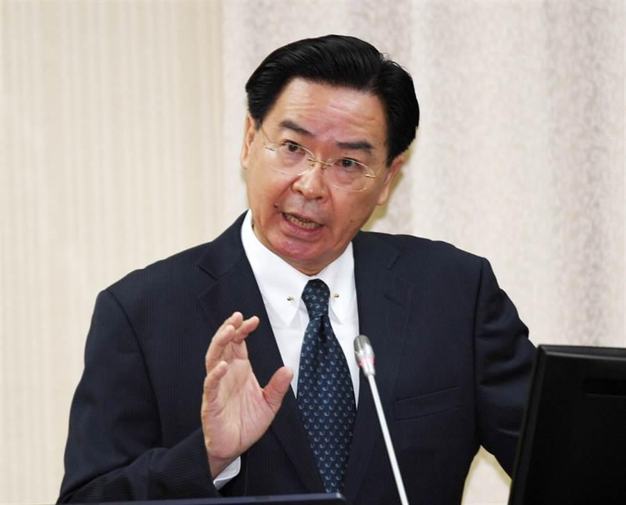 駁柯文哲台灣商品說,外交部長吳釗燮(圖)表示,他絕不同意此說法,「Taiwan is not for sale,台灣是非賣品」。(中央社)