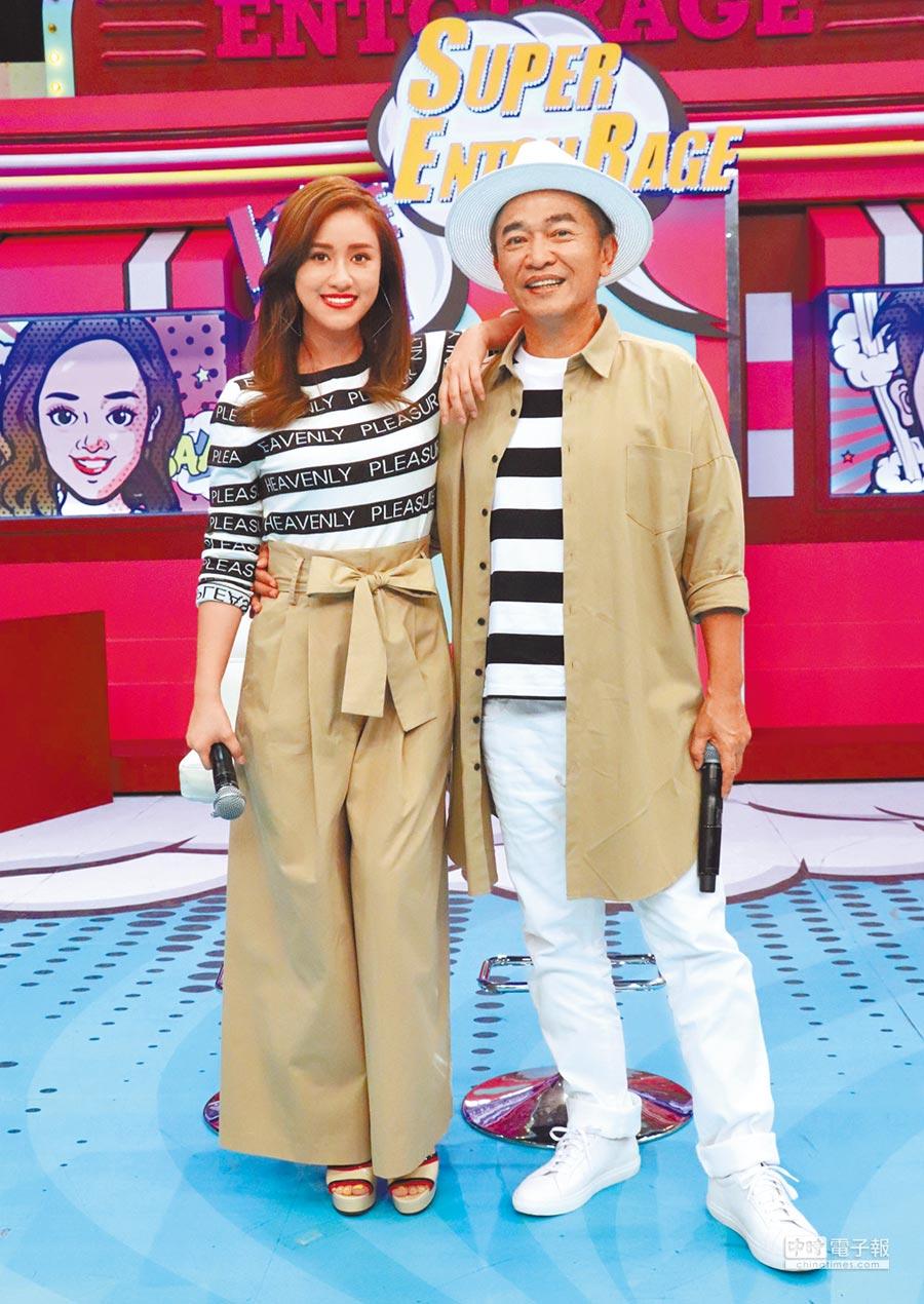 對於大根被打,吳宗憲認為藝人不小心就容易惹是非,右為女兒吳姍儒。