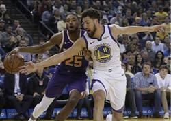 NBA》克雷找回手感 柯瑞狂飆三分 勇士開弓射太陽