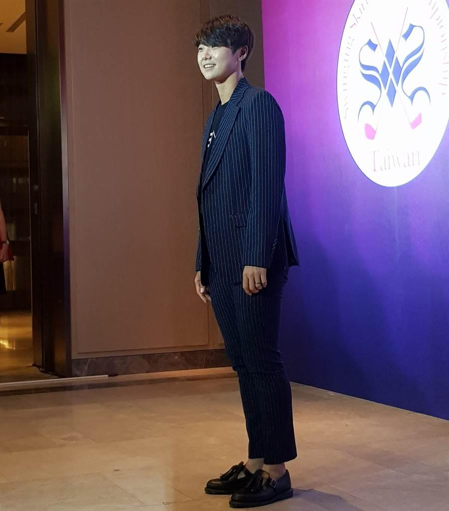 LPGA巡迴賽現任世界球后、韓國好手朴城炫中性打扮很帥氣。(陳筱琳攝)