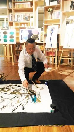大陸抽象藝術名家魏立剛宣傳台北藝博個展