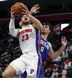 NBA》葛瑞芬延長賽絕殺76人 活塞開季勇奪3連勝
