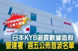 《中時晚間快報》日本KYB避震數據造假 營建署:週五公佈首波名單