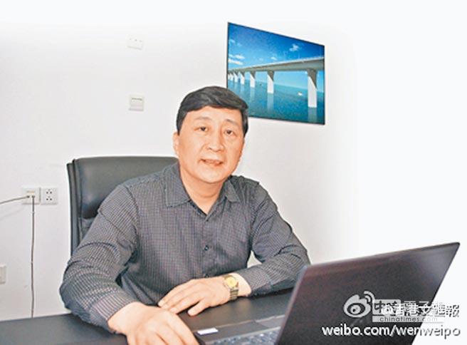 港珠澳大橋主體工程設計負責人孟凡超。(取自微博@香港文匯報)