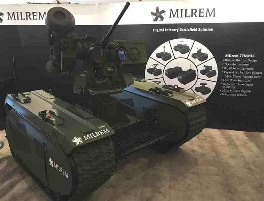 愛沙尼亞米爾蘭姆公司的泰坦無人駕駛地面戰鬥車。(圖/Milrem)