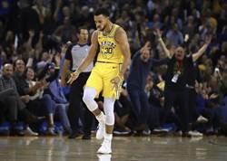 NBA》柯瑞11顆三分球狂轟51分 勇士輕取巫師