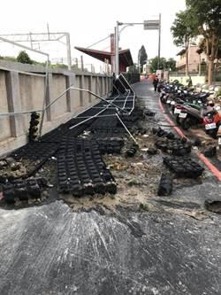 后里植生牆倒塌挨批  公所澄清:尚未驗收