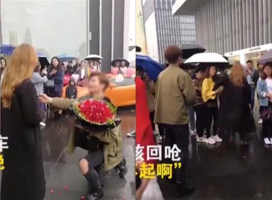 富二代開跑車求婚被拒惱羞 正妹女友嗆:有錢了不起?(圖翻攝自/梨視頻)