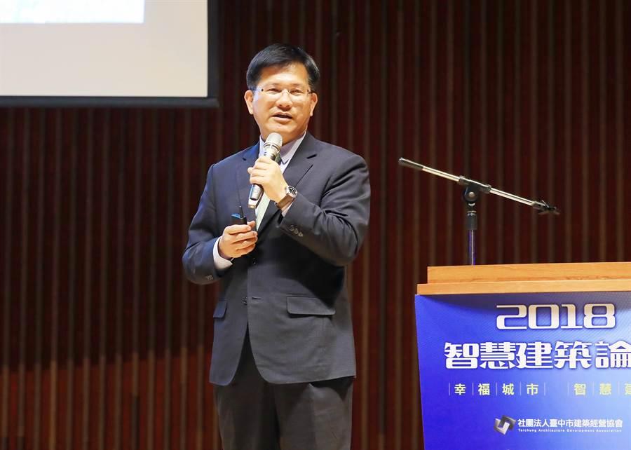 台中市長林佳龍說,台中市秉持以人為本的理念,以形塑國際、文化、智慧的大台中為願景。(陳世宗攝)