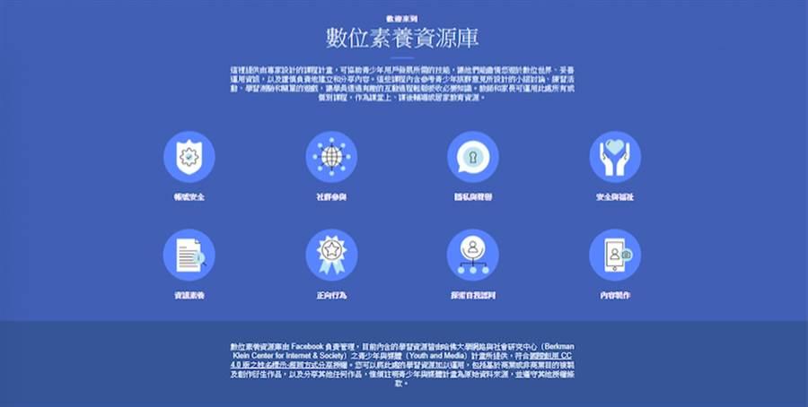 Facebook攜手台灣公民團體推出中文版「數位素養資源庫」。(圖/Facebook提供)