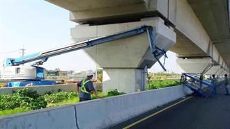 影》高空吊籃被撞斷 高鐵包商墜地失生命跡象