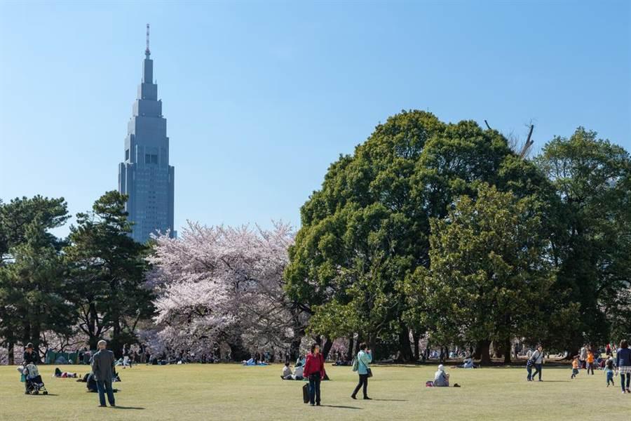 新宿御苑是東京的著名景點,常有外國觀光客到此參訪。(逹志影像/shutterstock)