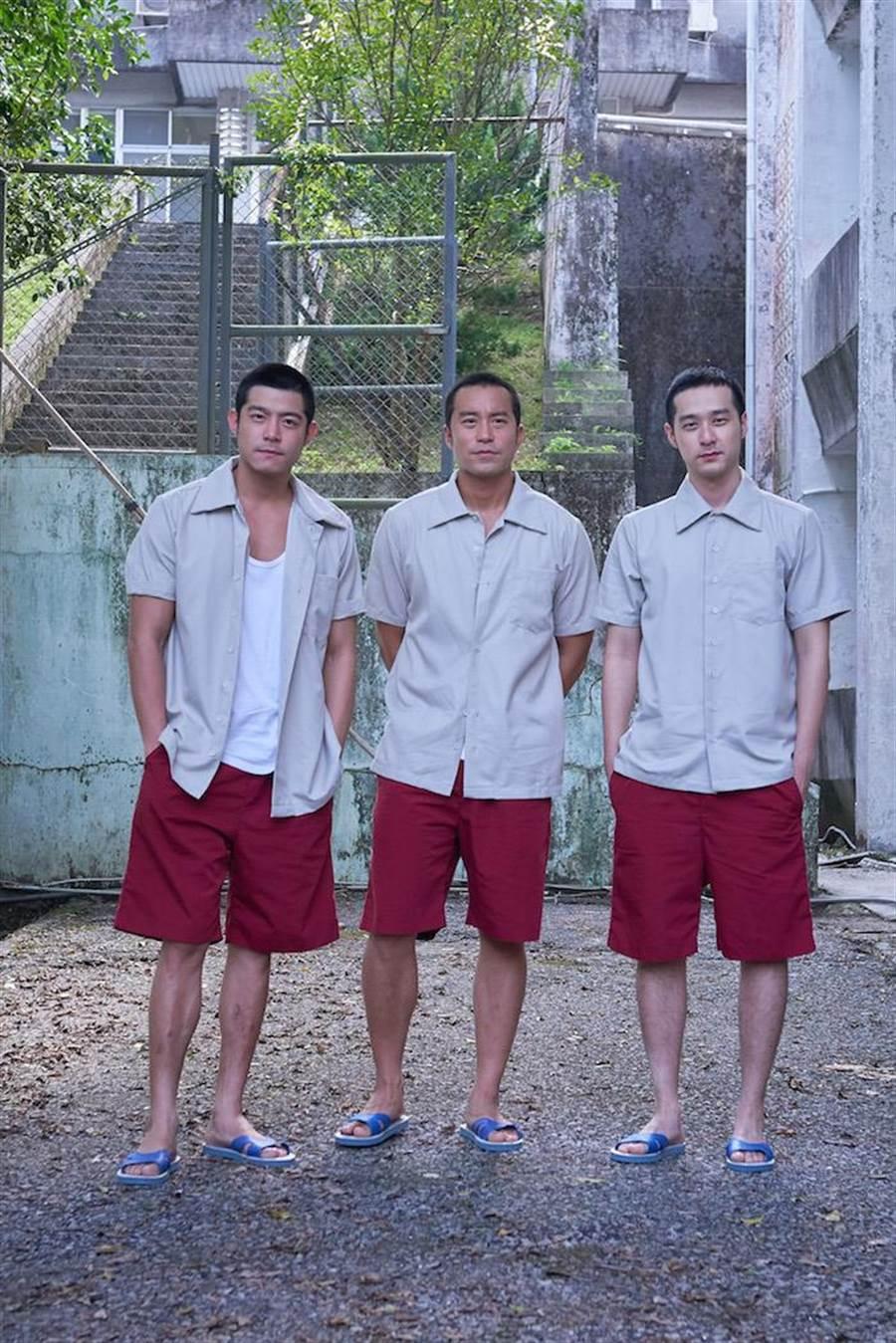王柏傑(左起)、張孝全、周洺甫。(Netflix提供)