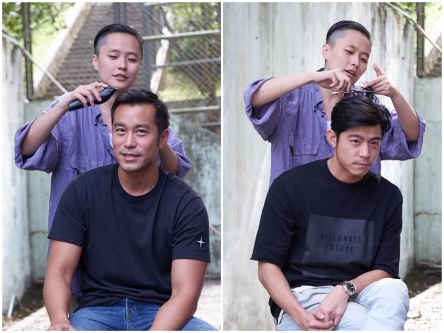 導演象徵性幫兩人剃髮。(Netflix提供)