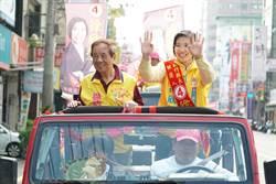 新竹》藍、綠陣營打天王天后牌 徐欣瑩車隊掃街