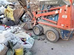 疑機具操作不慎 新北八里資源回收廠工人爆頭慘死