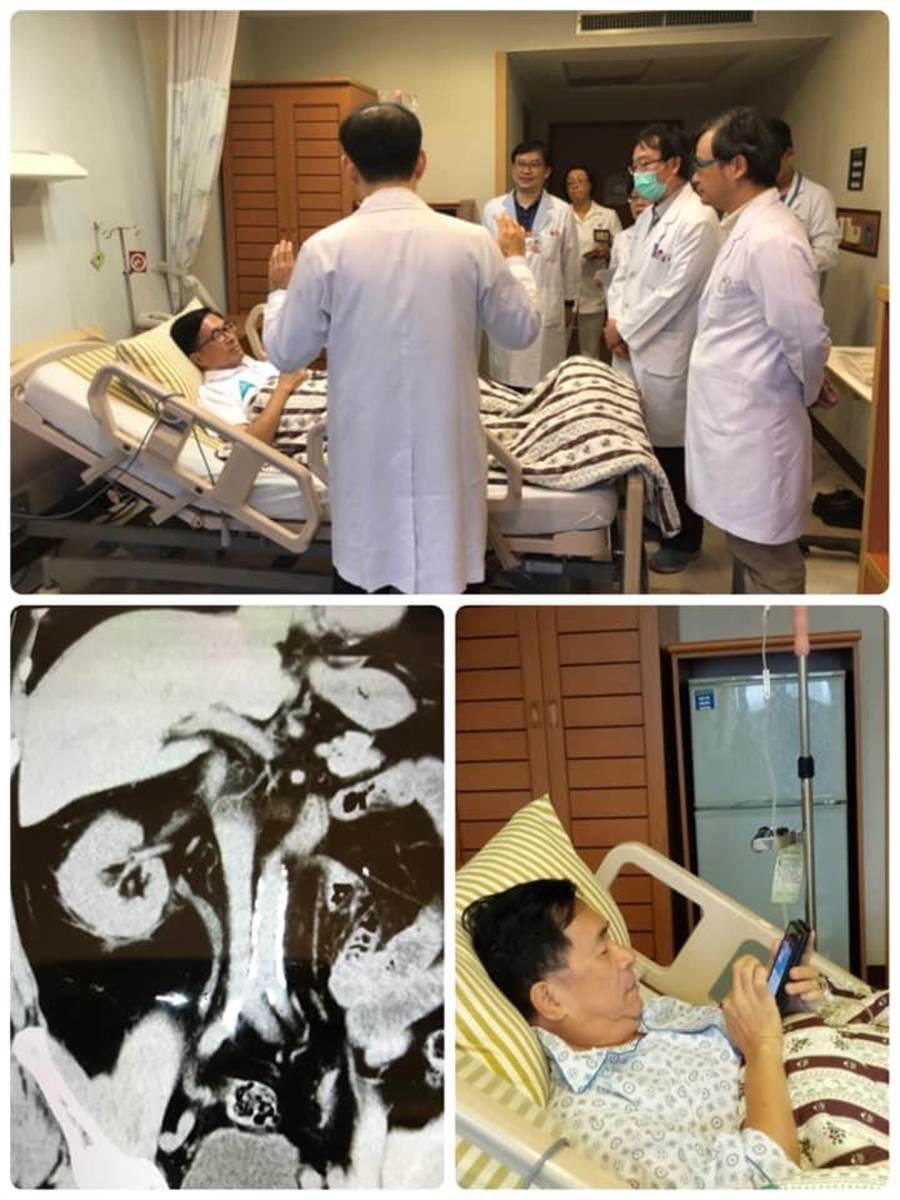 前總統陳水扁27日PO文說自己因結石住院,但仍掛心兒子選情。(翻攝臉書陳水扁新勇哥物語)
